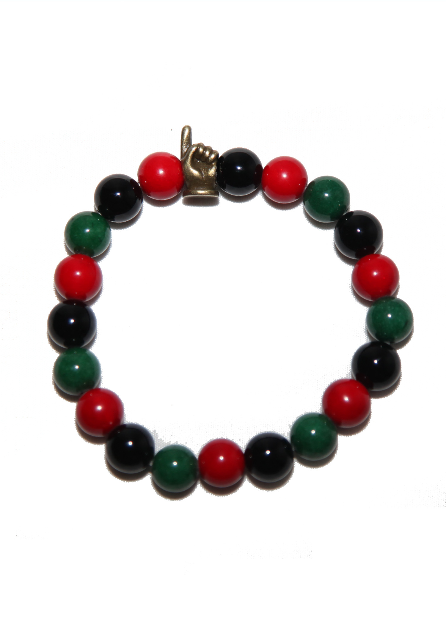 Red black and green bracelet power in one for Red black and green jewelry